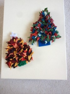 Decorations for a Christmas tree