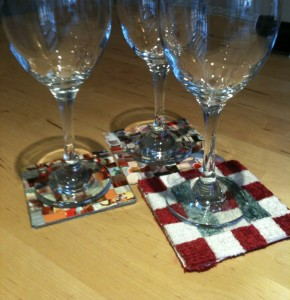 Relax and enjoy a drink, using your mosaic drink mats!